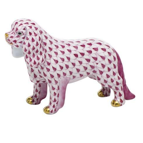 Herend Figurines Dogs Cavalier King Charles Spaniel - Raspberry $295.00