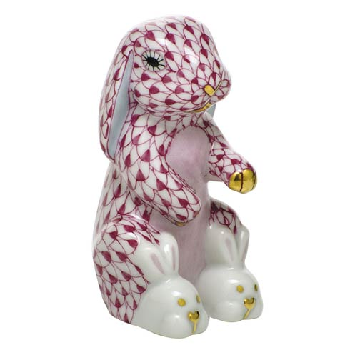 $325.00 Bunny Slippers - Raspberry