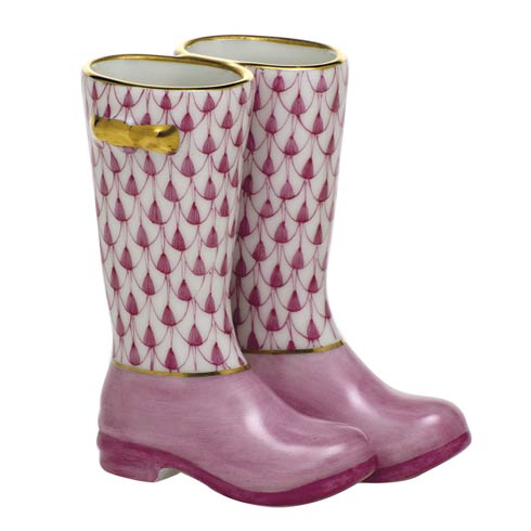 Pair of Rain Boots-Raspberry