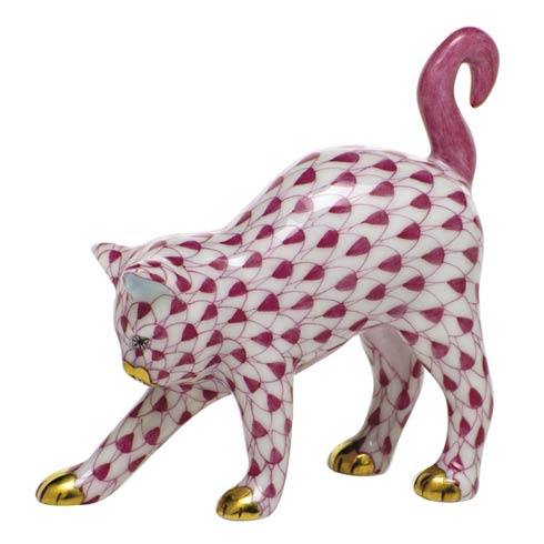 $285.00 Arched Cat-Raspberry