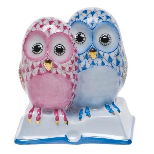 Pair Of Owls On Book image