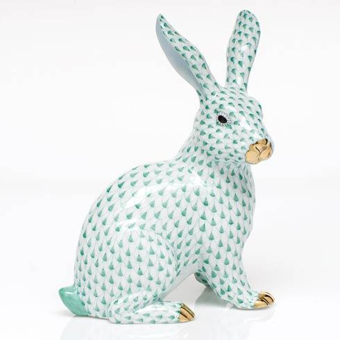 $835.00 Large Sitting Bunny - Green