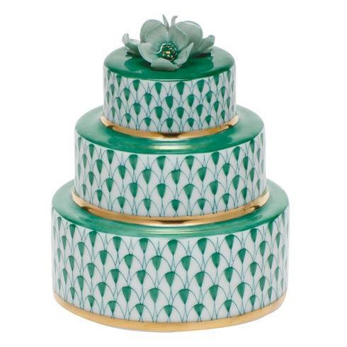 Herend Figurines Miscellaneous Wedding Cake - Green $195.00