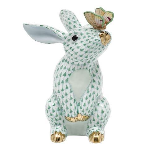 $765.00 Bunny with Butterfly - Green