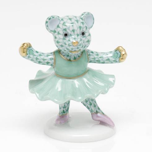 $325.00 Ballerina Bear - Green