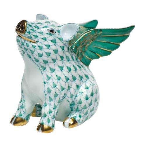 Herend Figurines Pigs When Pigs Fly $350.00