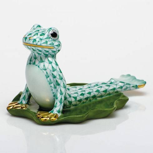 $395.00 Yoga Frog in Cobra Pose - Green