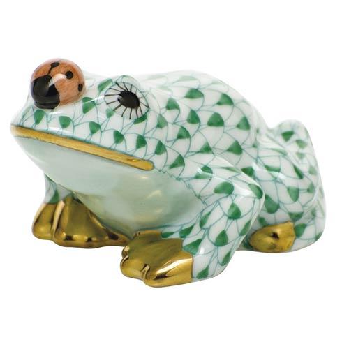 $325.00 Frog with ladybug - Green