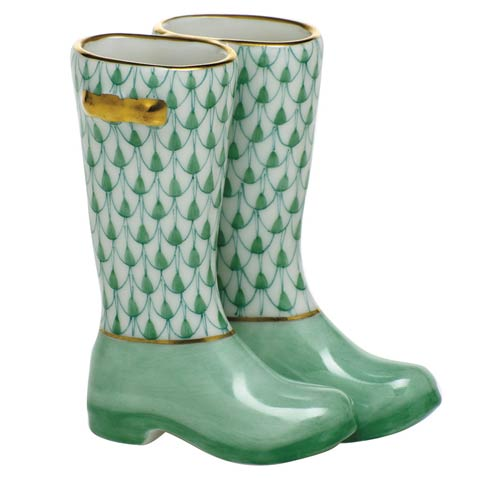 $310.00 Pair of Rain Boots-Green