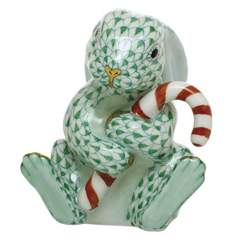 $395.00 Candy Cane Bunny-Green