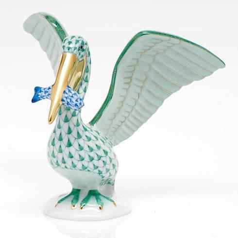 $375.00 Pelican with Fish - Multicolor