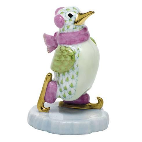 $350.00 Ice Skating Penguin - Key Lime