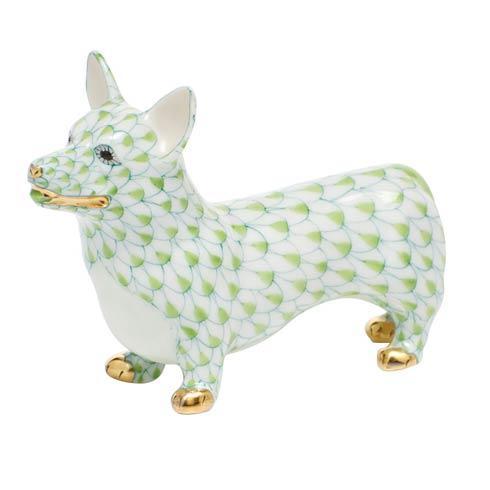 Herend Figurines Dogs Corgi - Key Lime $275.00