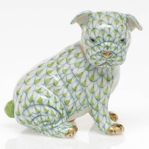Herend Figurines Dogs Bulldog Puppy - Key Lime $255.00