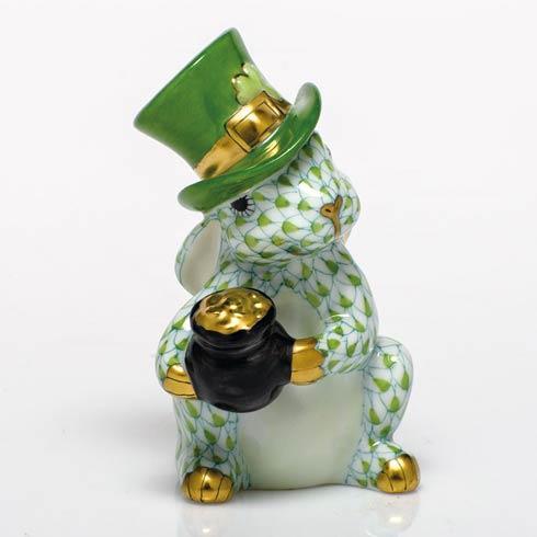 Herend Figurines Bunnies Leprechaun Bunny  $425.00