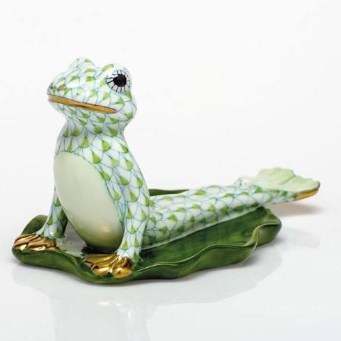 $395.00 Yoga Frog in Cobra Pose - Key Lime