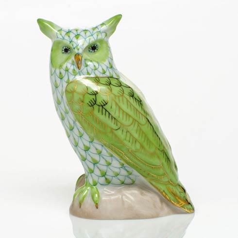 $325.00 Great Horned Owl - Key Lime