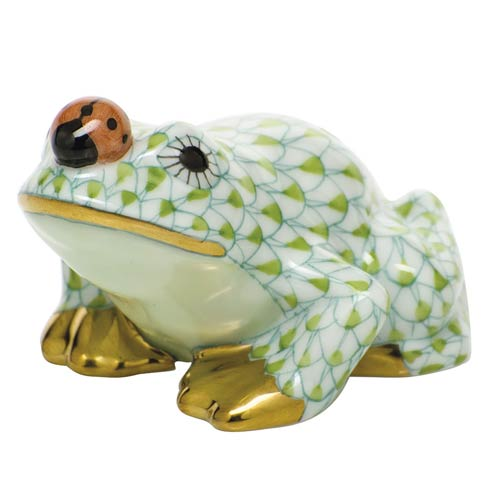 $325.00 Frog with ladybug - Key Lime