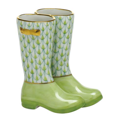 $310.00 Pair of Rain Boots-Key Lime