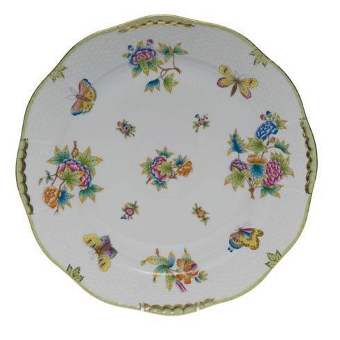 Herend Queen Victoria Green Border Round Platter $510.00