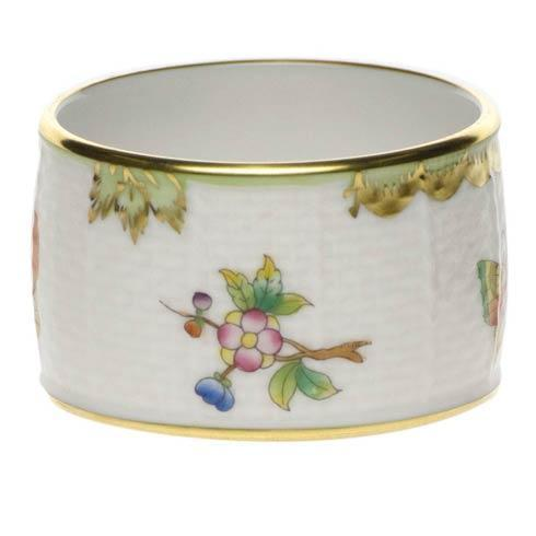 Herend Queen Victoria Green Border Napkin Ring $80.00