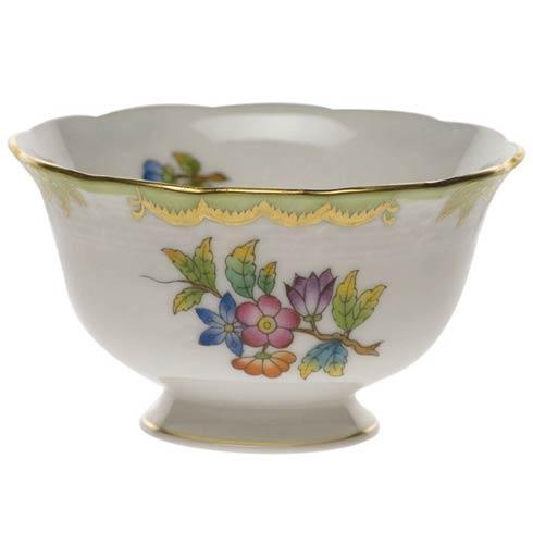 Herend  Queen Victoria Green Border Open Sugar Bowl $145.00