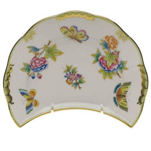 Herend Queen Victoria Green Border Crescent Salad $215.00