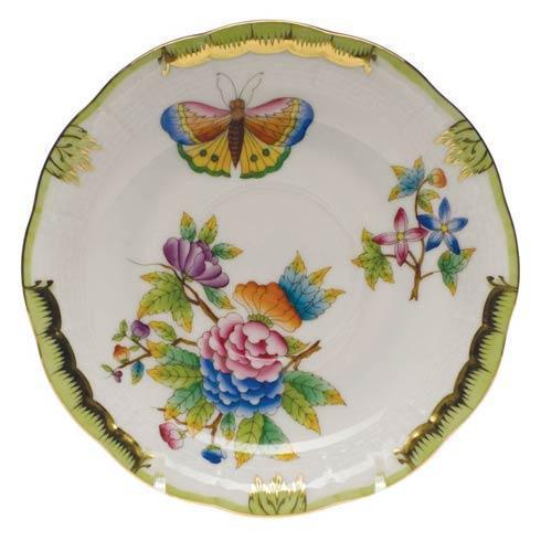 Herend Collections Queen Victoria Green Border Tea Saucer $80.00