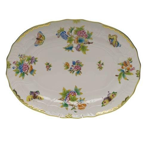 Herend Queen Victoria Green Border Platter $585.00