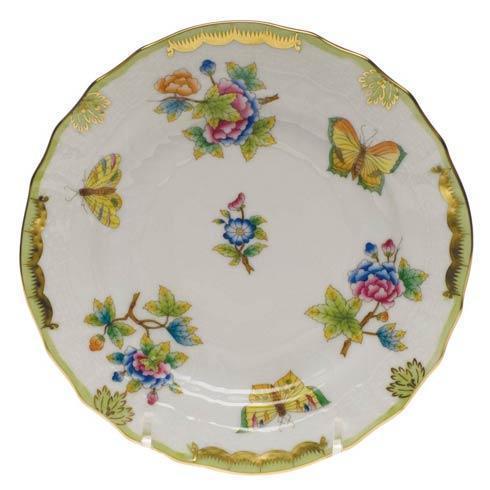Herend Queen Victoria Green Border Bread & Butter Plate $135.00