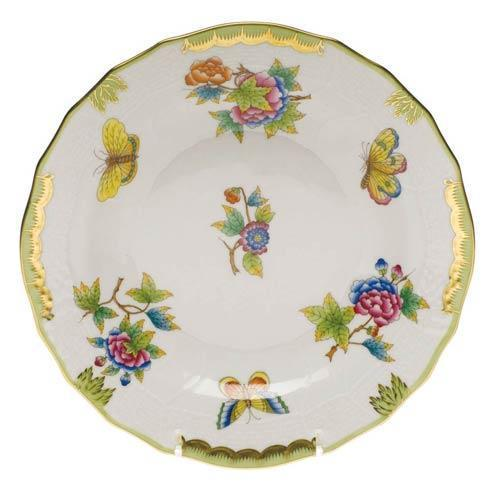 Herend Queen Victoria Green Border Dessert Plate $175.00