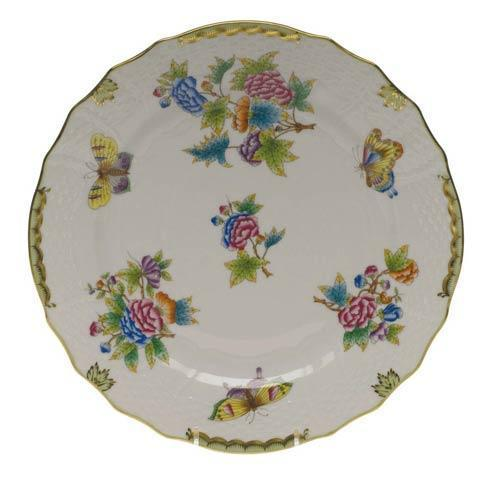 Herend Collections Queen Victoria Green Border Service Plate $250.00