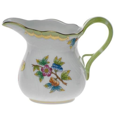 Herend Queen Victoria Green Border Creamer $175.00