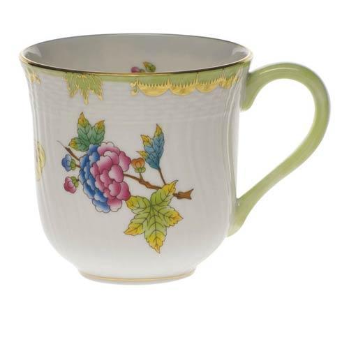 Herend  Queen Victoria Green Border Mug $200.00