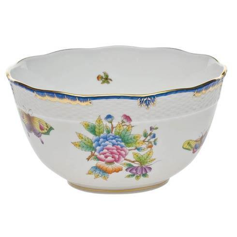 Herend  Queen Victoria Blue Border Round Bowl $275.00