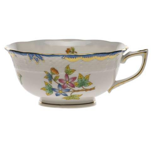 Herend Collections Queen Victoria Blue Border Tea Cup $160.00