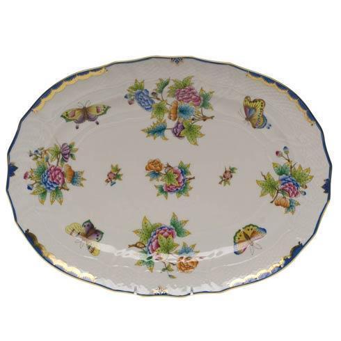 Herend Collections Queen Victoria Blue Border Platter $585.00