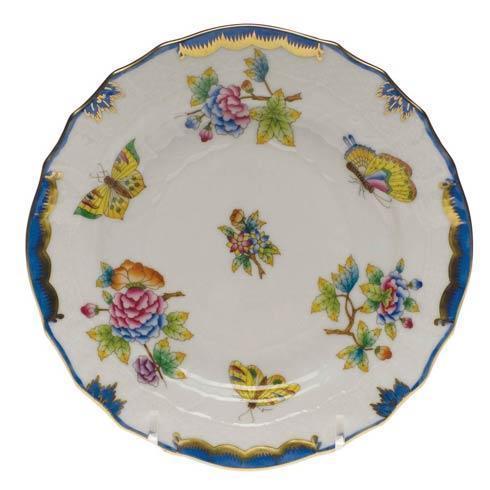 Herend Queen Victoria Blue Border Bread & Butter Plate $135.00