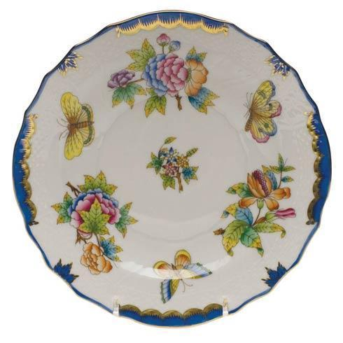 Herend  Queen Victoria Blue Border Salad Plate $150.00