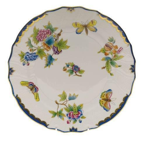 Herend Queen Victoria Blue Border Dinner Plate $205.00