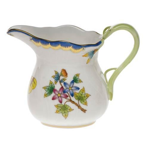 Herend Queen Victoria Blue Border Creamer $175.00