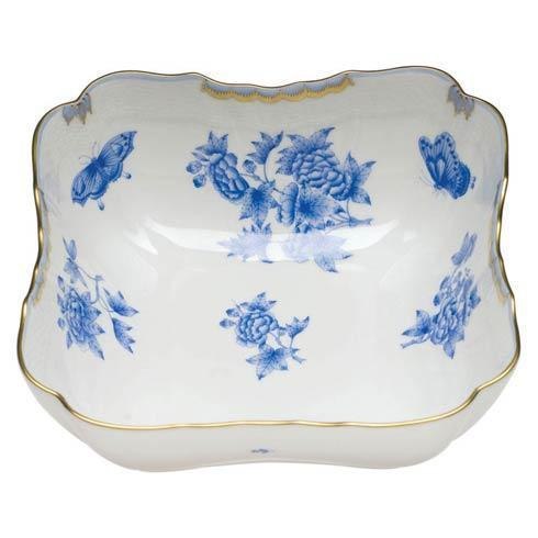Herend Fortuna Blue Square Salad Bowl $585.00