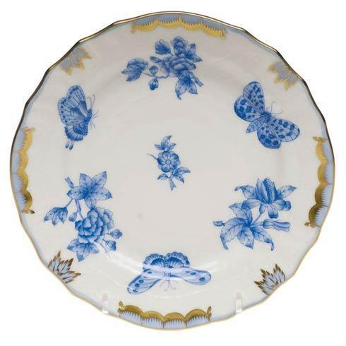 Herend  Fortuna Blue Bread & Butter Plate $135.00