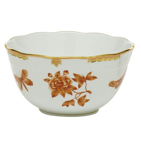 Herend Collections Fortuna Rust Round Bowl $275.00