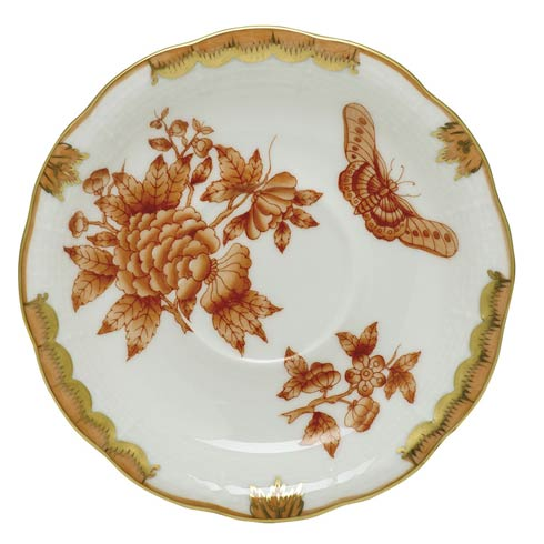 Herend Collections Fortuna Rust Tea Saucer  $80.00