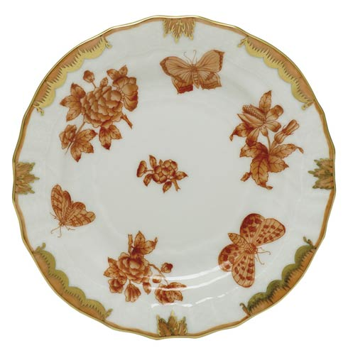 Herend Collections Fortuna Rust Bread & Butter Plate $135.00