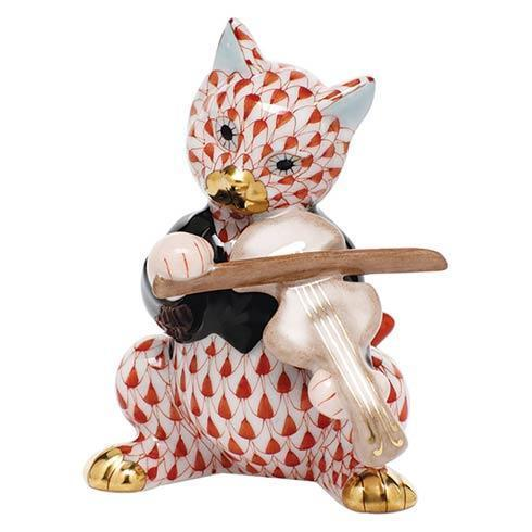 Cat with Fiddle - Rust