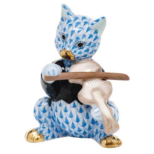 $325.00 Cat with Fiddle - Blue