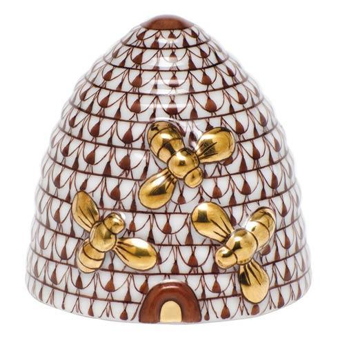 Herend Figurines Bugs & Friends Beehive - Chocolate $295.00