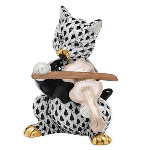 $325.00 Cat with Fiddle - Black
